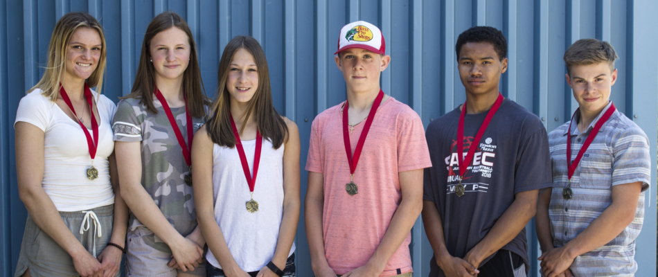 Jr. high track gold medallists