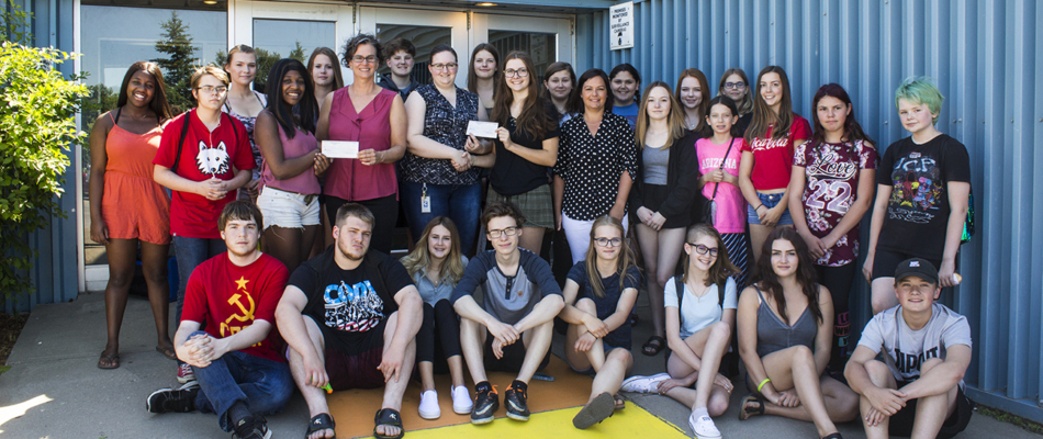 Rotary Interact donates to Dream Merchant Theatre and Band