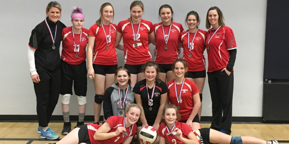 Jr. high girls- Silver at Zones