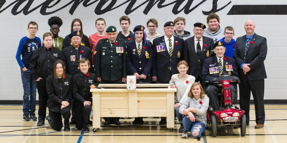 Remembrance Day Ceremony at RF Staples