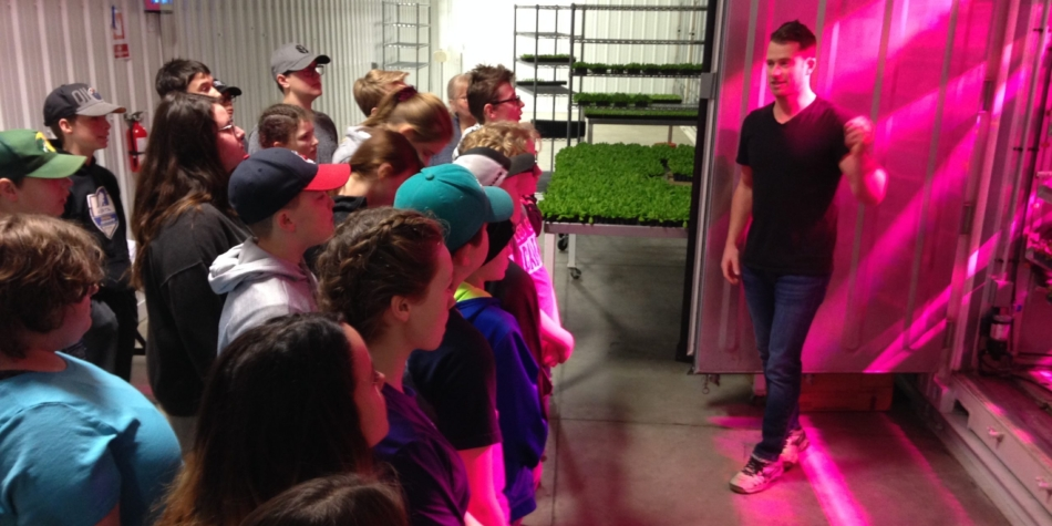 Agriculture class visits Swiss Leaf Farms