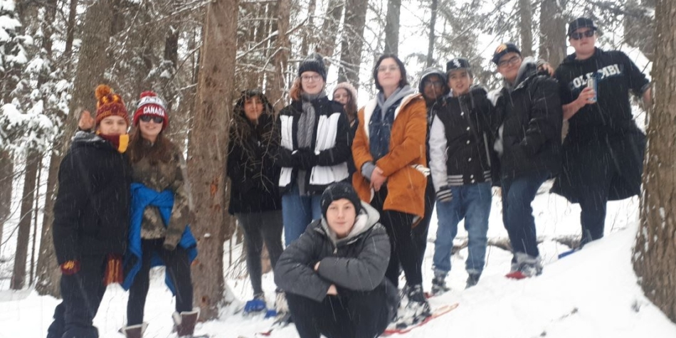 Snowshoeing in Wellness Class