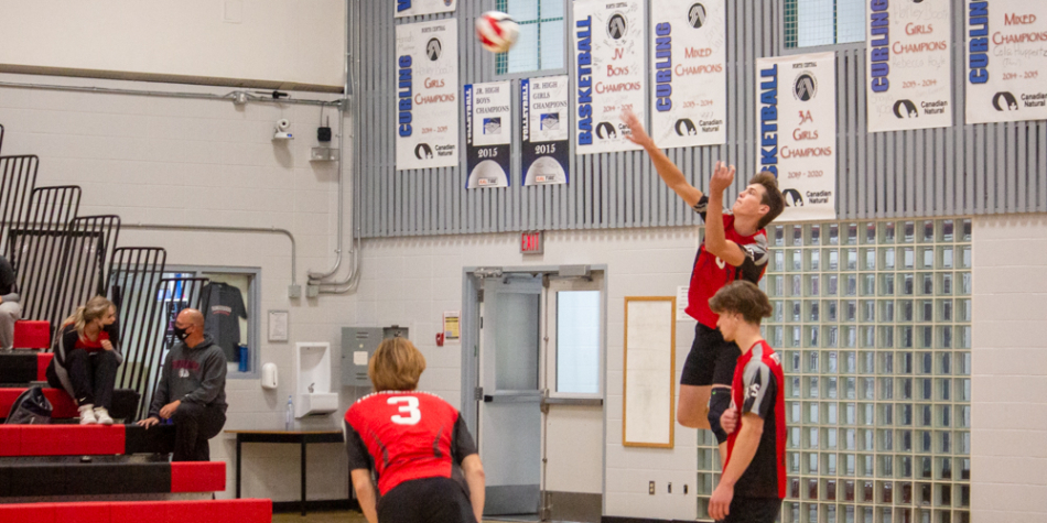Sr. Boys volleyball action
